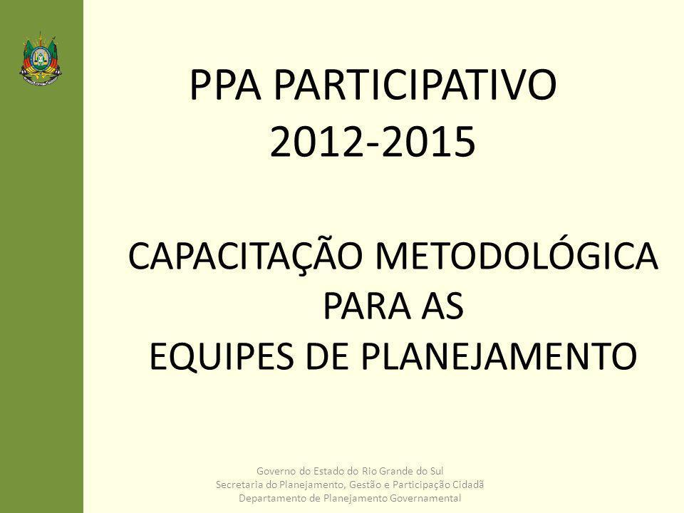 CAPACITAÇÃO METODOLÓGICA PARA AS EQUIPES DE PLANEJAMENTO