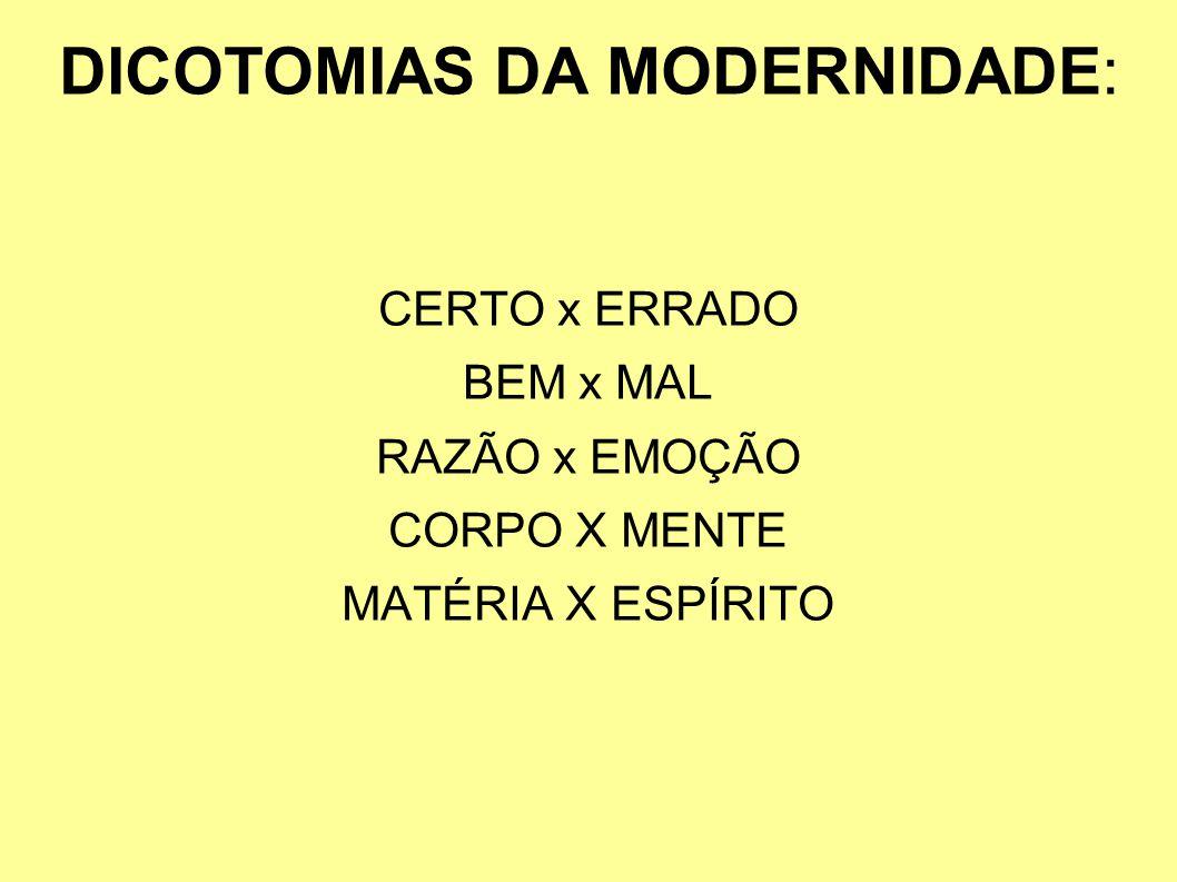 DICOTOMIAS DA MODERNIDADE: