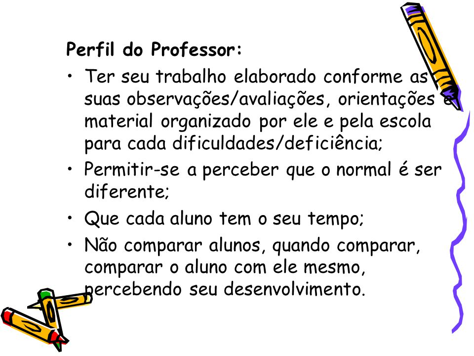 Perfil do Professor: