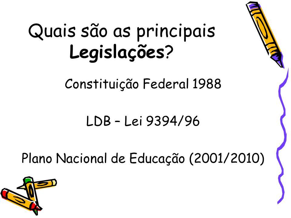 Quais são as principais Legislações