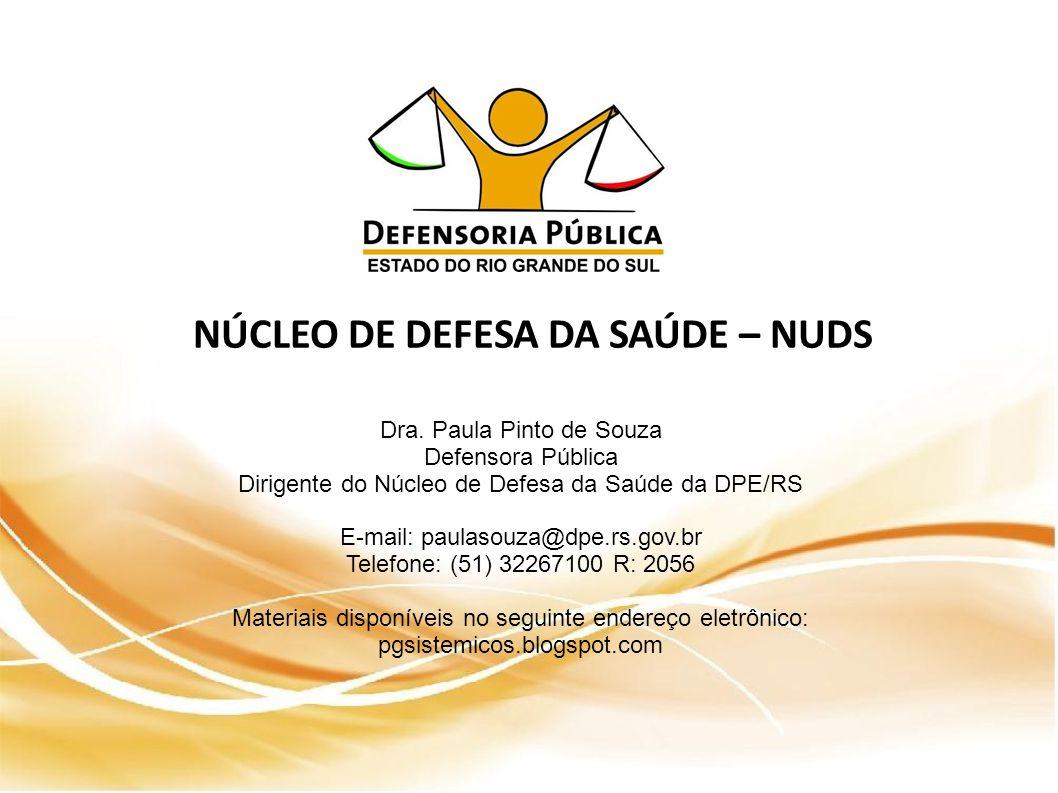 NÚCLEO DE DEFESA DA SAÚDE – NUDS