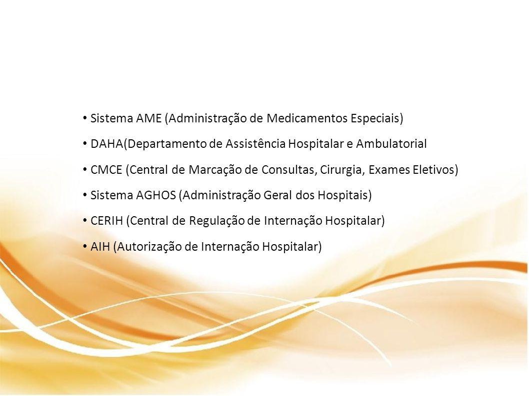 Sistema AME (Administração de Medicamentos Especiais)