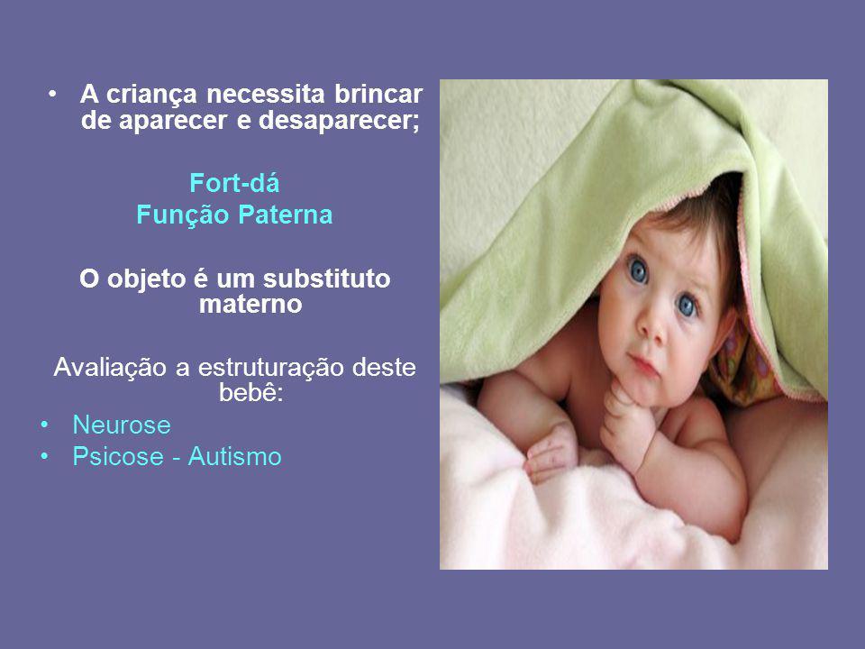 A criança necessita brincar de aparecer e desaparecer;