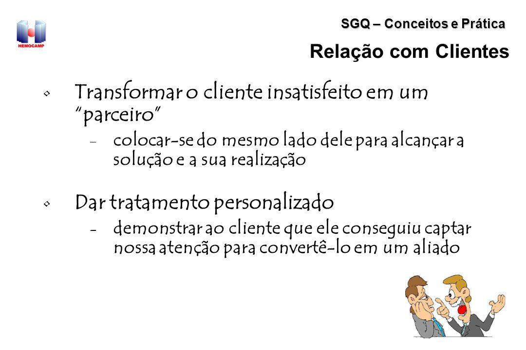Transformar o cliente insatisfeito em um parceiro