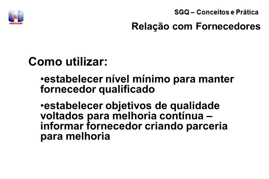 Fornecedores Externos Qualificação do fornecedores - manutenção