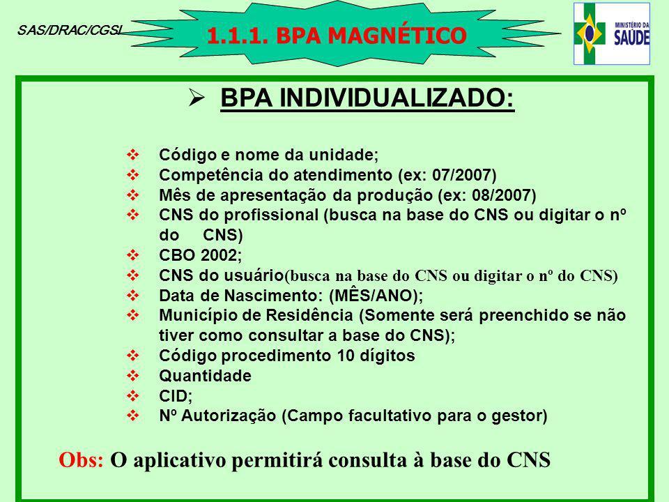 BPA INDIVIDUALIZADO: 1.1.1. BPA MAGNÉTICO
