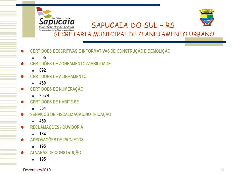 CERTIDÕES DESCRITIVAS E INFORMATIVAS DE CONSTRUÇÃO E DEMOLIÇÃO 505