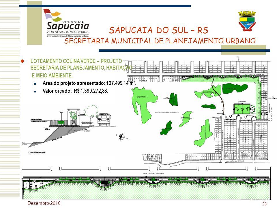 Área do projeto apresentado: 137.499,14 m².
