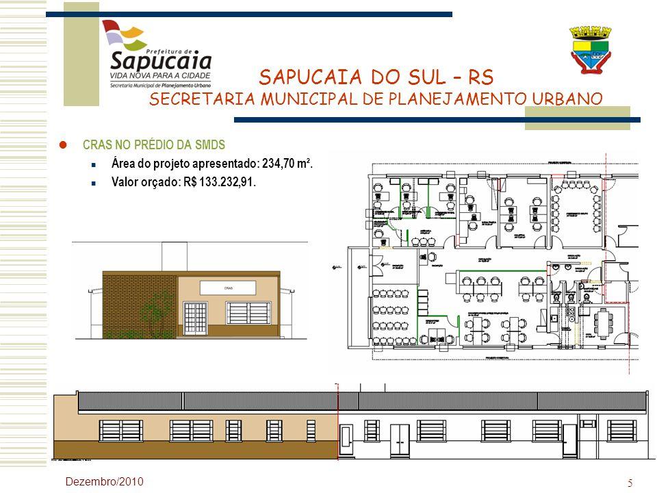Área do projeto apresentado: 234,70 m². Valor orçado: R$ 133.232,91.