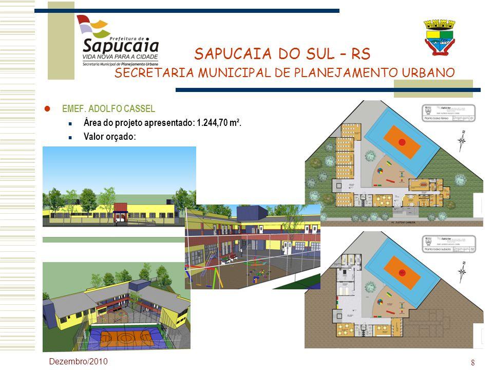 Área do projeto apresentado: 1.244,70 m². Valor orçado: