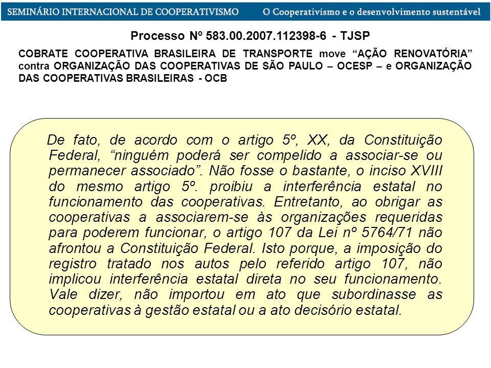 Processo Nº 583.00.2007.112398-6 - TJSP