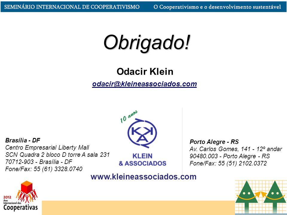 Obrigado! Odacir Klein www.kleineassociados.com