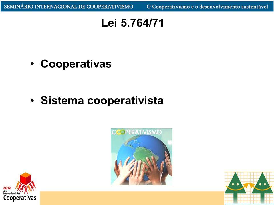 Lei 5.764/71 Cooperativas Sistema cooperativista