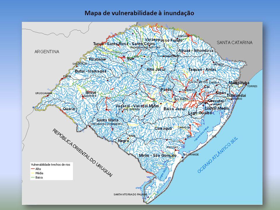 Mapa de vulnerabilidade à inundação