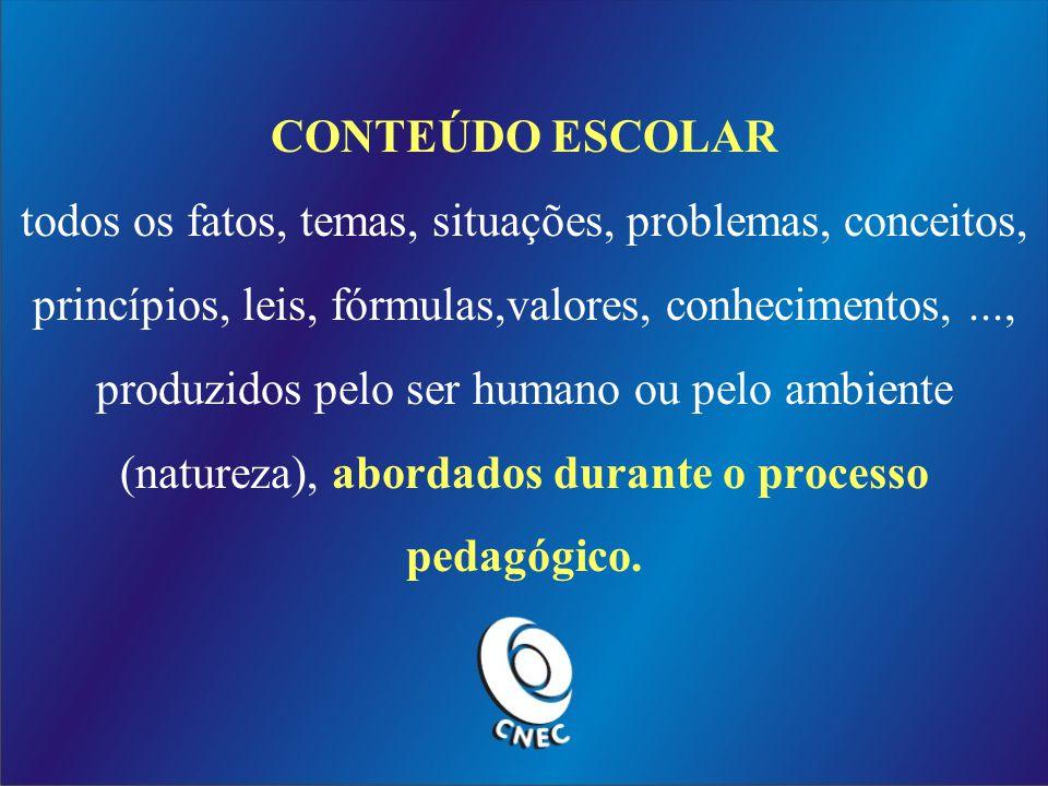 CONTEÚDO ESCOLAR