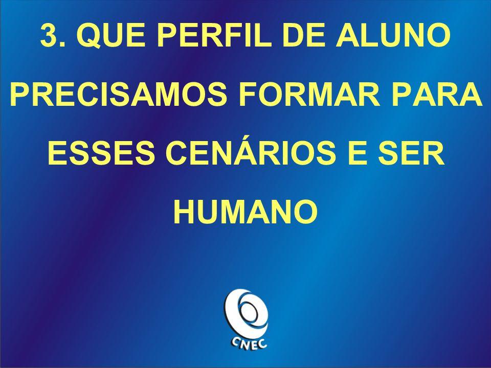 3. QUE PERFIL DE ALUNO PRECISAMOS FORMAR PARA ESSES CENÁRIOS E SER HUMANO