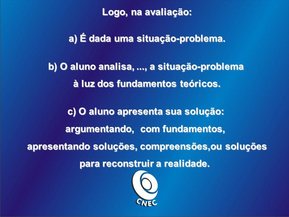 a) É dada uma situação-problema.
