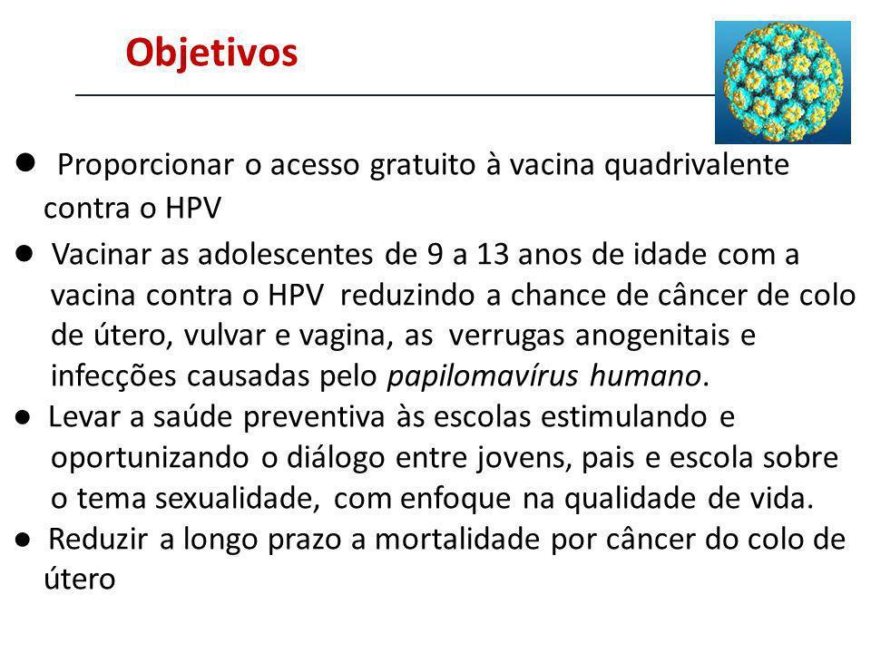 ● Proporcionar o acesso gratuito à vacina quadrivalente