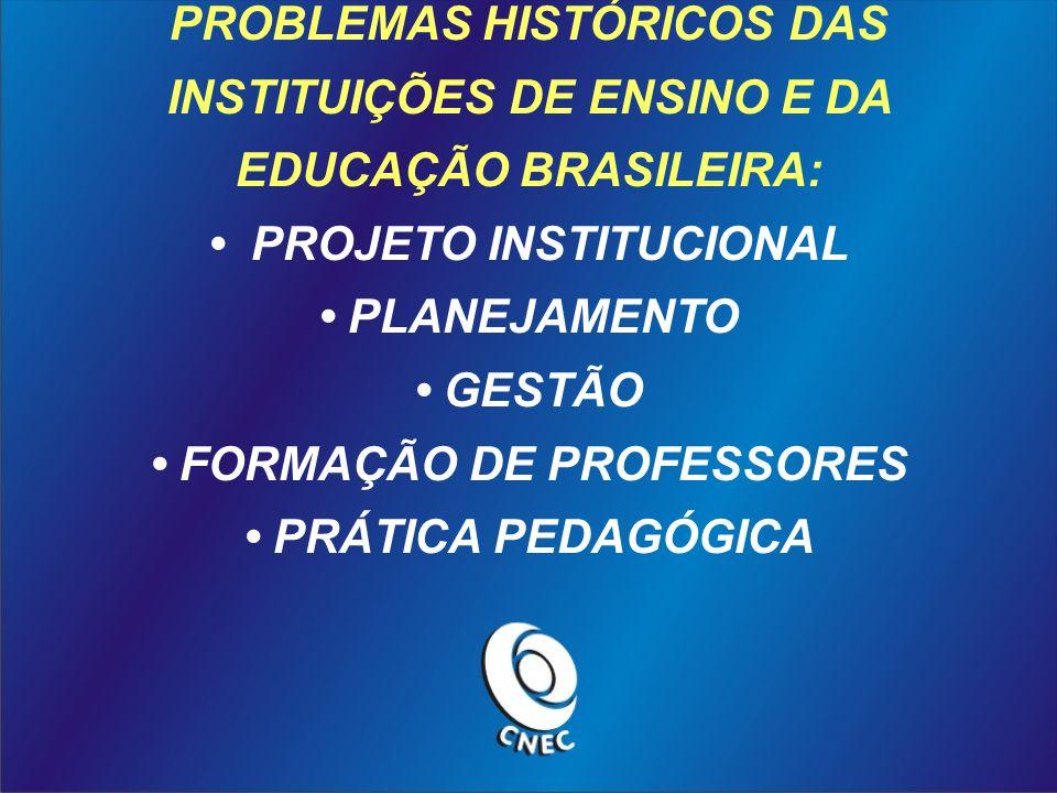 PROBLEMAS HISTÓRICOS DAS INSTITUIÇÕES DE ENSINO E DA