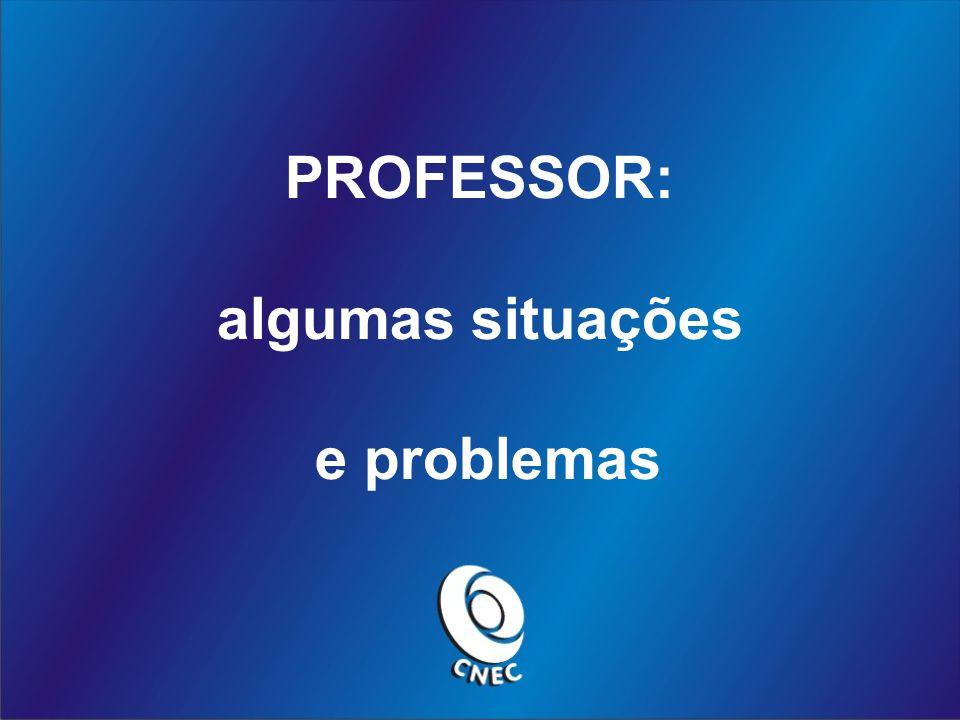 PROFESSOR: algumas situações e problemas
