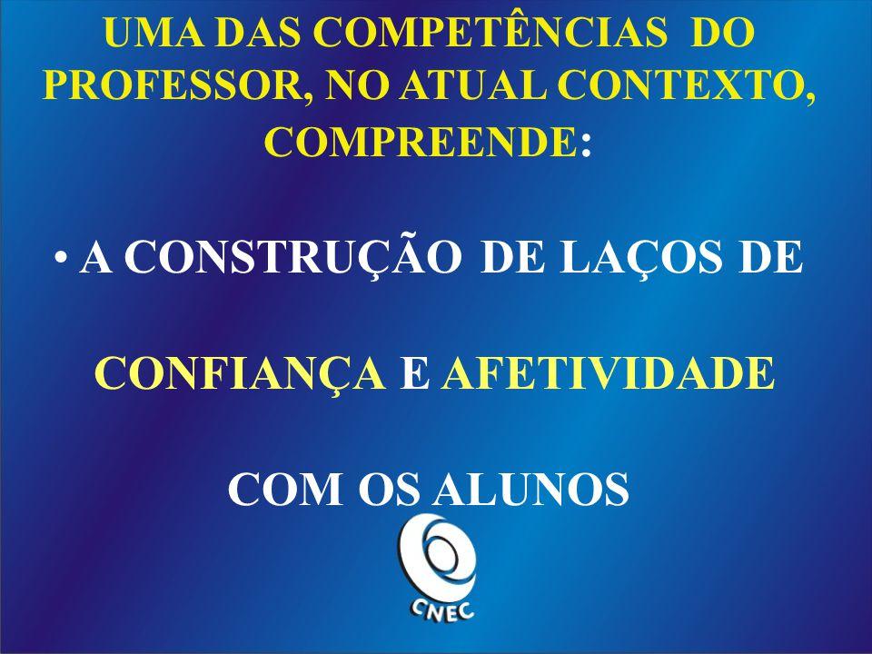 A CONSTRUÇÃO DE LAÇOS DE CONFIANÇA E AFETIVIDADE COM OS ALUNOS