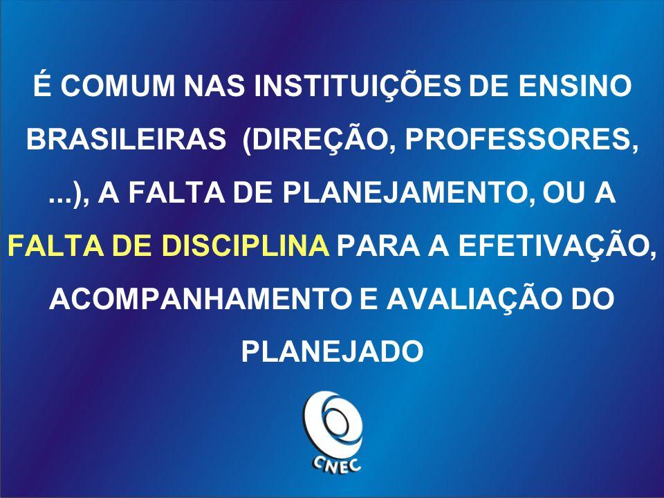 É COMUM NAS INSTITUIÇÕES DE ENSINO BRASILEIRAS (DIREÇÃO, PROFESSORES,