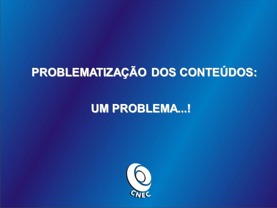 PROBLEMATIZAÇÃO DOS CONTEÚDOS: