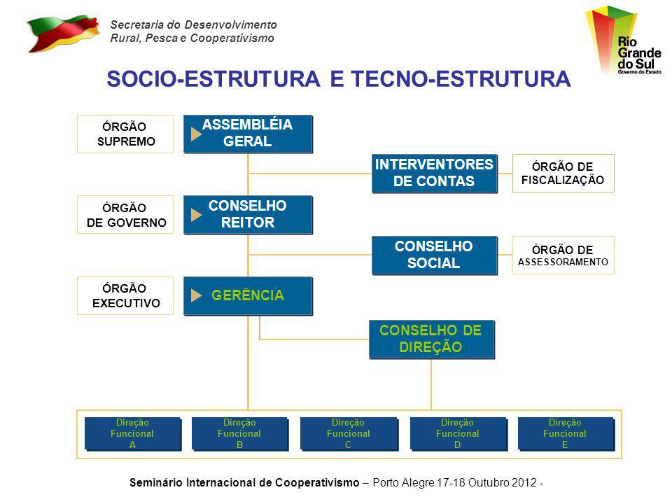 SOCIO-ESTRUTURA E TECNO-ESTRUTURA