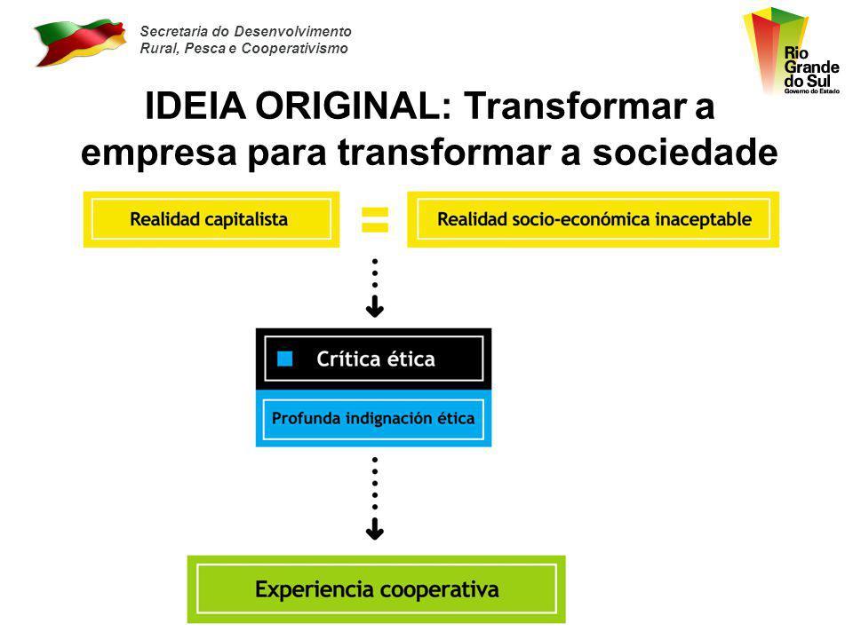 IDEIA ORIGINAL: Transformar a empresa para transformar a sociedade