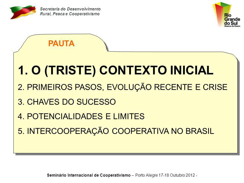 O (TRISTE) CONTEXTO INICIAL