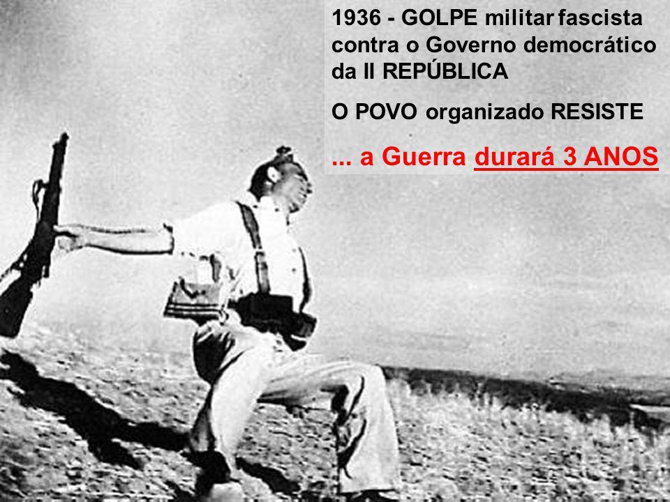 1936 - GOLPE militar fascista contra o Governo democrático da II REPÚBLICA