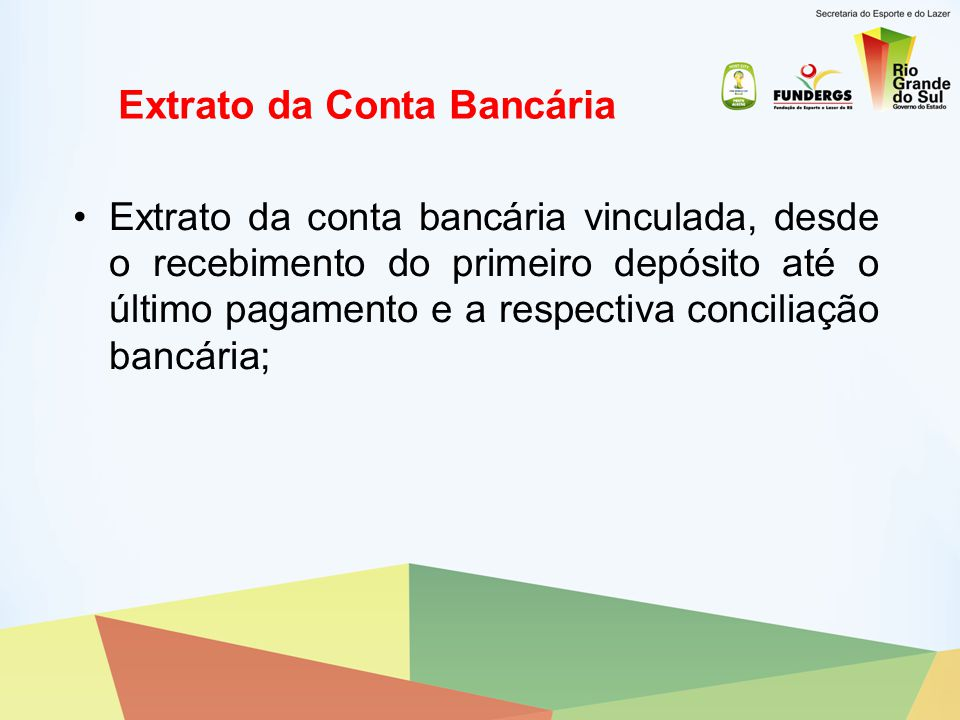 Extrato da Conta Bancária