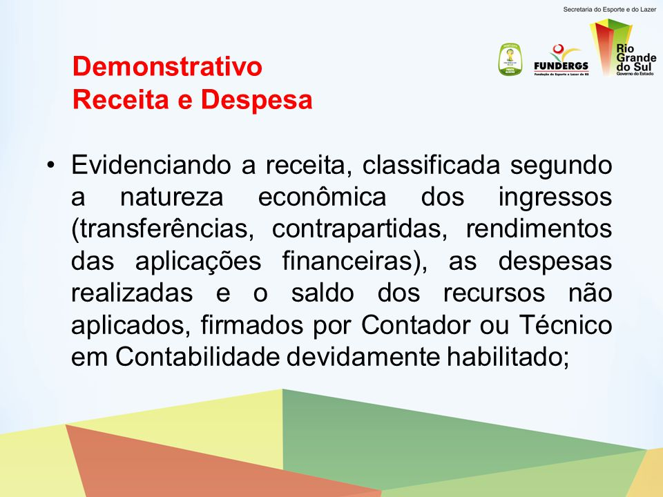 Demonstrativo Receita e Despesa