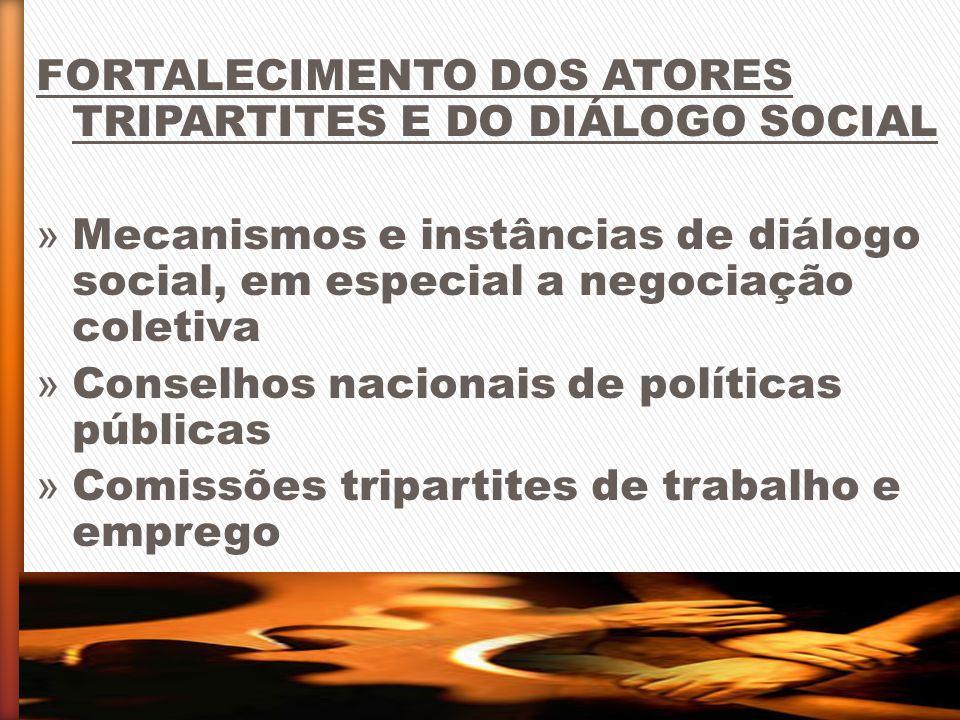 FORTALECIMENTO DOS ATORES TRIPARTITES E DO DIÁLOGO SOCIAL