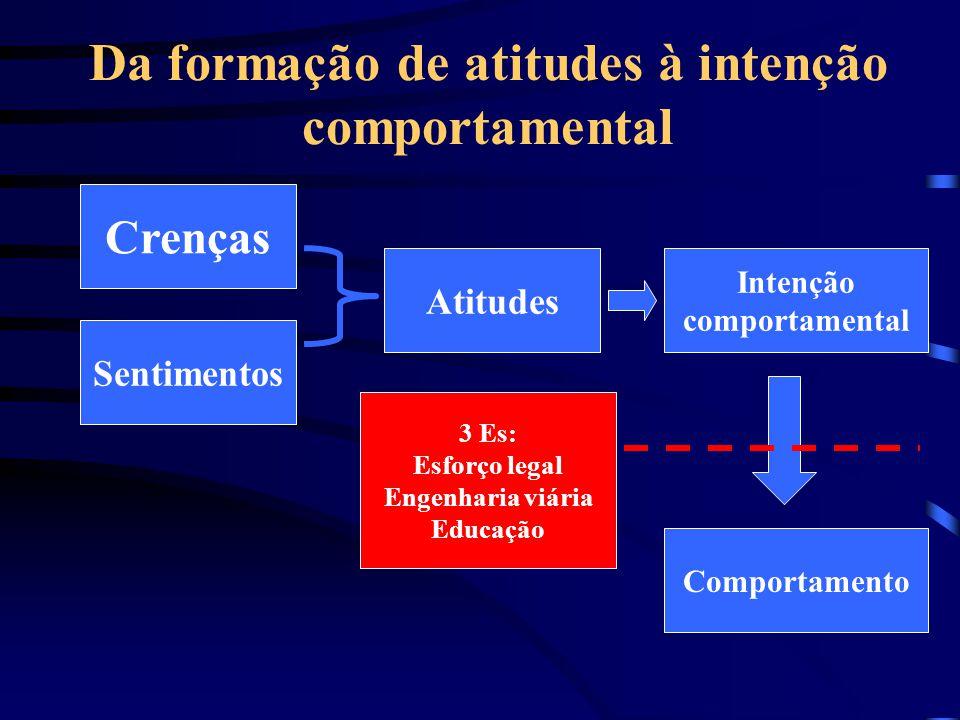 Da formação de atitudes à intenção comportamental