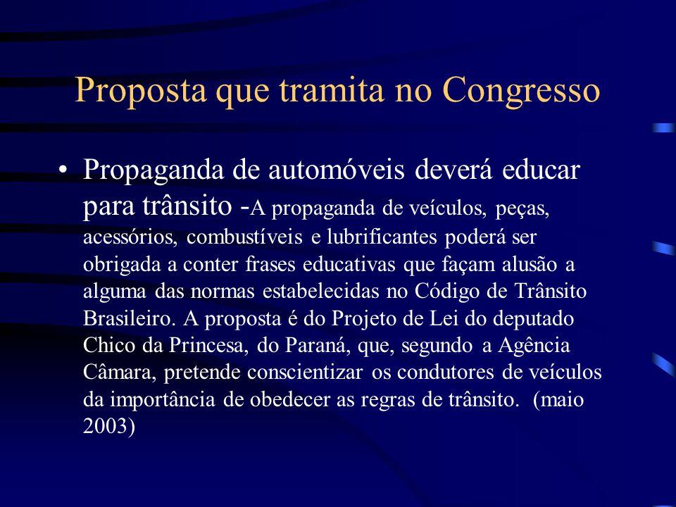 Proposta que tramita no Congresso