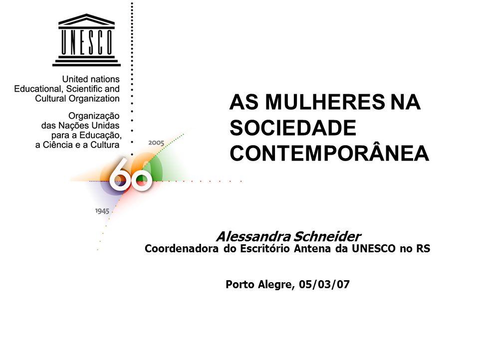 AS MULHERES NA SOCIEDADE CONTEMPORÂNEA