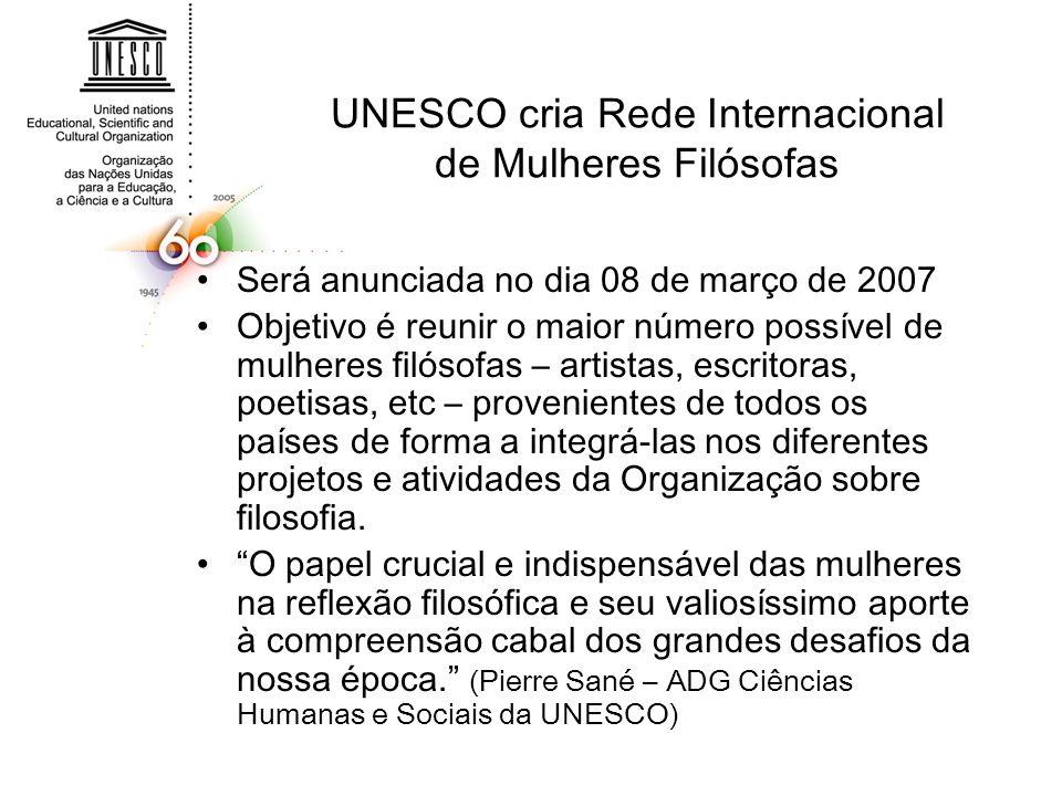 UNESCO cria Rede Internacional de Mulheres Filósofas