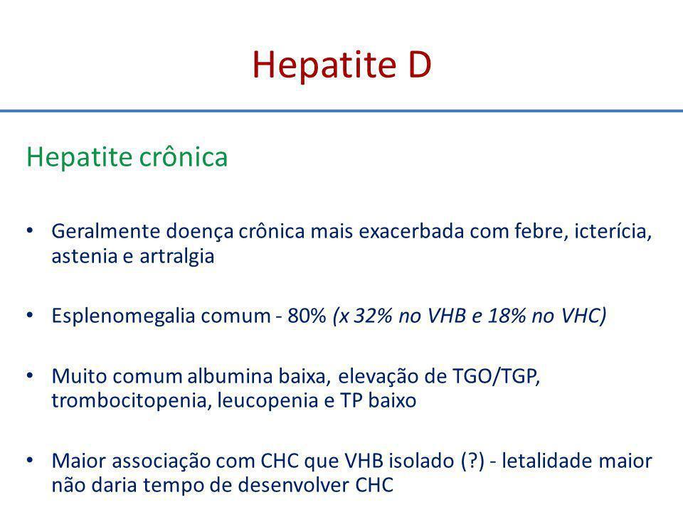 Hepatite D Hepatite crônica