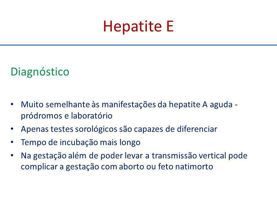 Hepatite E Diagnóstico
