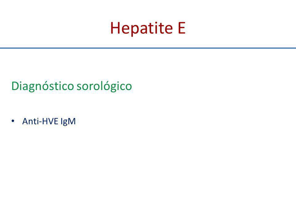 Hepatite E Diagnóstico sorológico Anti-HVE IgM