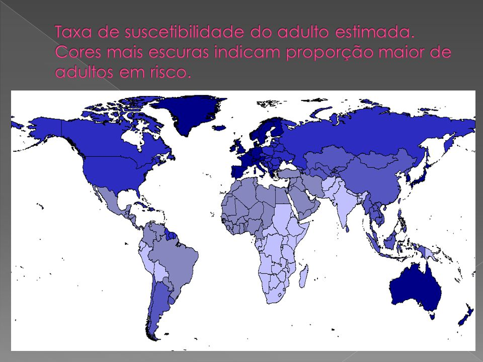 Taxa de suscetibilidade do adulto estimada