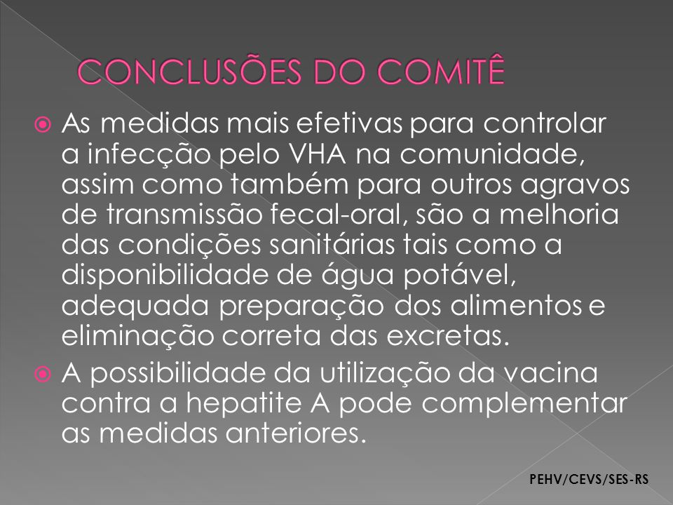 CONCLUSÕES DO COMITÊ