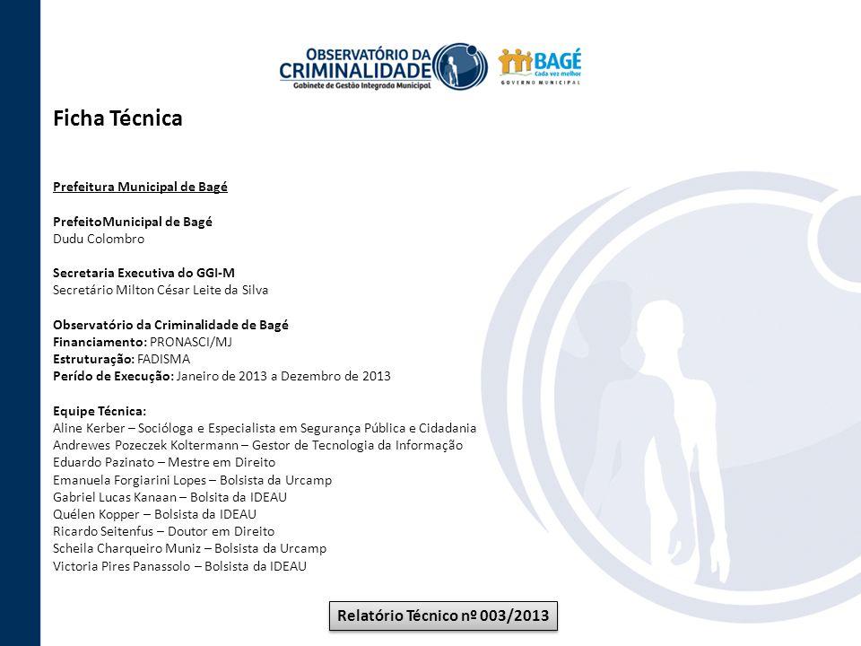Ficha Técnica Relatório Técnico nº 003/2013