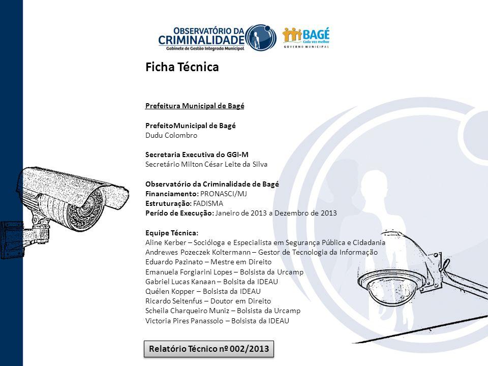 Ficha Técnica Relatório Técnico nº 002/2013