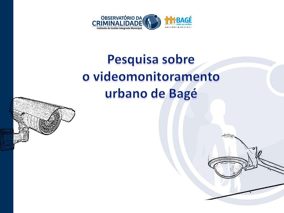 Pesquisa sobre o videomonitoramento urbano de Bagé