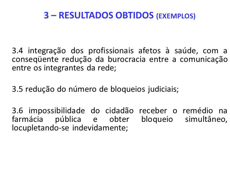 3 – RESULTADOS OBTIDOS (EXEMPLOS)