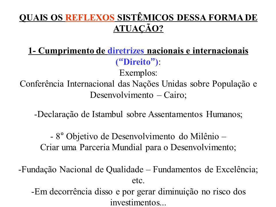 QUAIS OS REFLEXOS SISTÊMICOS DESSA FORMA DE ATUAÇÃO