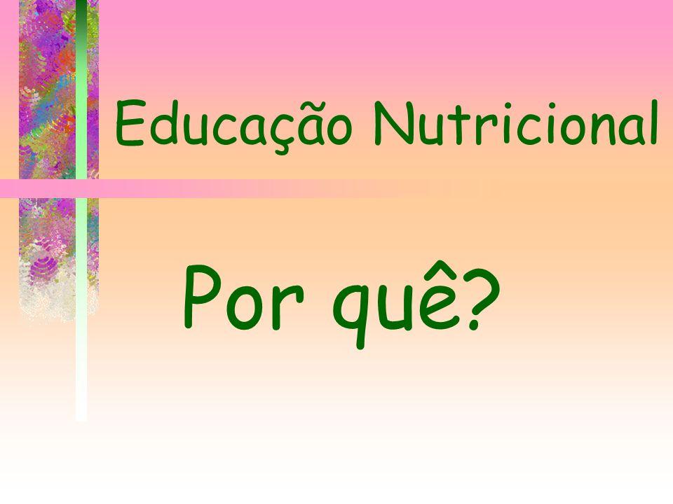 Educação Nutricional Por quê