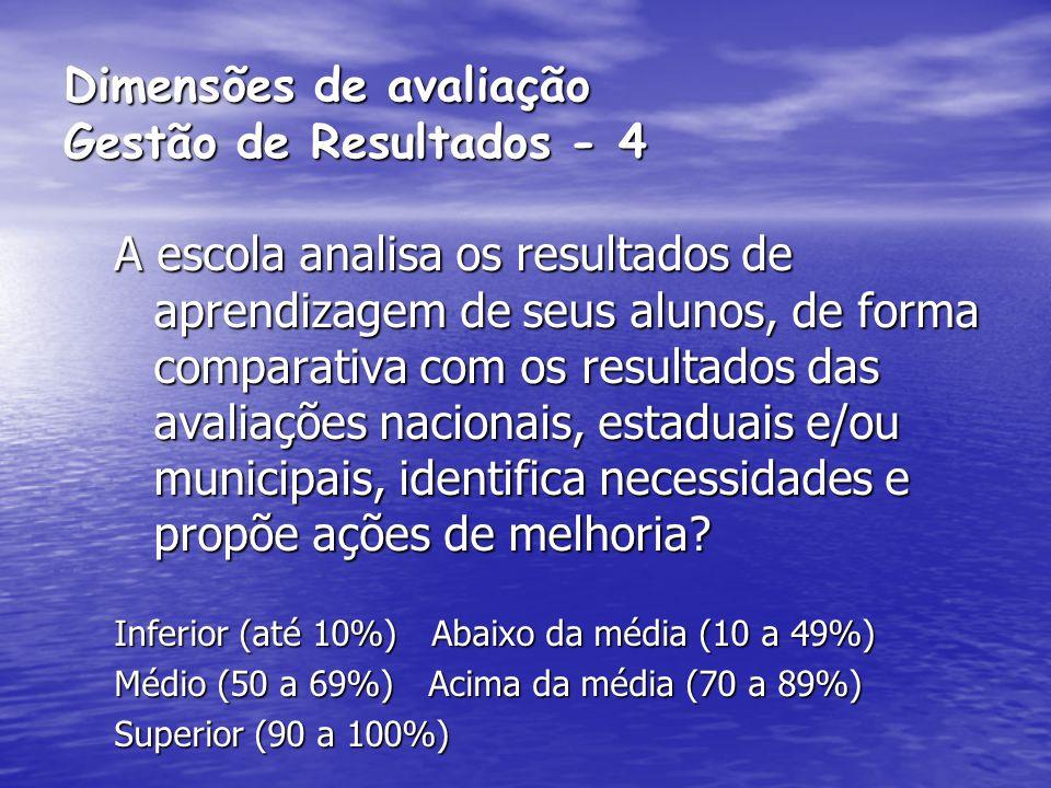 Dimensões de avaliação Gestão de Resultados - 4